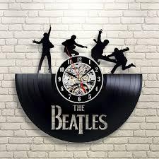 beatles home decor vinyl evolution the beatles decor vinyl wall clock fan gift