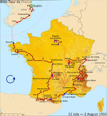 Paris France On A Map by 1998 Tour De France Wikipedia