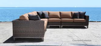 Outdoor Patio Set With Umbrella Furniture Awesome Round Sectional Modern Patio Furniture With