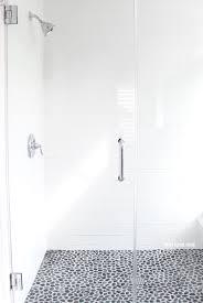 gray and white bathroom ideas long white subway tiles large