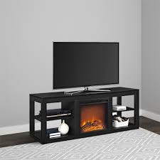 ameriwood furniture parsons electric fireplace tv stand for tvs