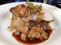 equinox cuisine chicken breast on a porcini risotto picture of equinox