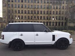 white land rover black rims white range rover vogue diesel 2012 face lift conversion in