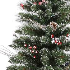 christmas tree with snow 9 ft x 51 in snow tip pine berry vickerman b106280