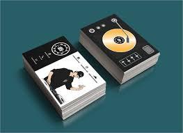 Titanium Business Cards Astonishing Disc Jockey Business Cards 30 On Business Card Size