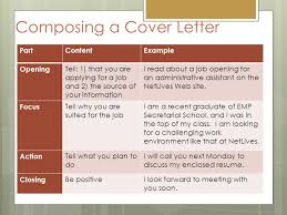 job application letter cover letter ppt video online download