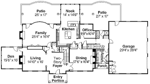 colonial style floor plans colonial style house plan with contemporary amenit 72069da