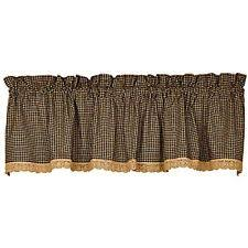 Lace Trim Curtains Lace Checked Curtains Drapes Valances Ebay