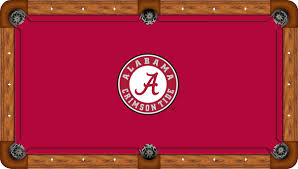alabama crimson tide 8 u0027 pool table felt pool table cloth