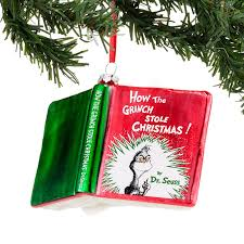 grinch book ornament by department 56 enesco the patch