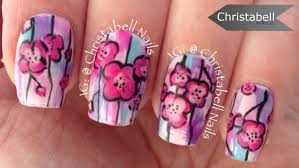christabellnails watercolor floral nail art tutorial youtube