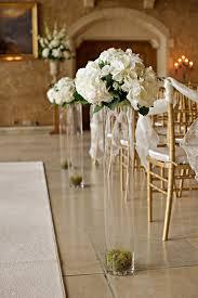 wedding aisle ideas indoor wedding aisle candle decorations vases