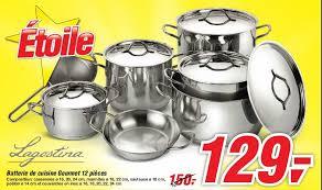 cuisine en batterie de cuisine makro promotion batterie de cuisine gourmet 12 pièces lagostina