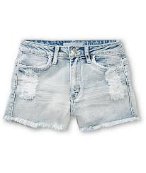 light wash denim shorts almost famous lucy light wash high waisted denim shorts zumiez