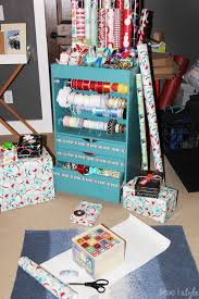 gift wrap cart organizing with style an organized gift wrap closet blue i style