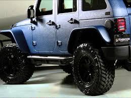 starwood motors jeep blue jeep wrangler unlimited kevlar coated lifted jeep youtube