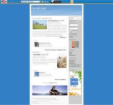 blue blog u2013 d4j personal template joomla templates professional