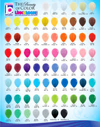 balloon color chart lewisville tx balloon bouguets latex balloons