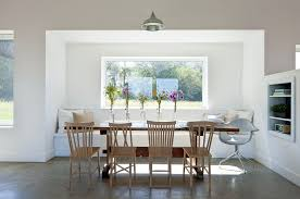 Dining Room Built In Contemporary Dining Room With Built In Bookshelf By Zeroenergy