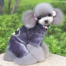 Small Dog Halloween Costumes Esingyo Warm Winter Coat Cartoon Pajamas Jumpsuit Pants