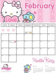 october 2017 calendar hello kitty u2013 printable editable blank