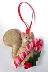 felt squirrel holiday ornament imagine our life