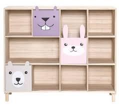 scaffali bambini libreria animali 3 cassetti l 107 x h 94 cm bloomingville