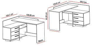 dimension bureau bureau d angle à 3 tiroirs thales belfurn
