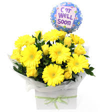 flower with get well soon graphic share on facbook images