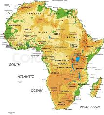 nigeria physical map highly detailed physical map of africa in vector format with all