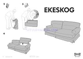 IKEA Beds EKESKOG SOFA BED COVER Assembly Instruction Download Free - Sofa bed assembly