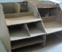Desk Organizer Ideas by Cardboard Desk Organizer