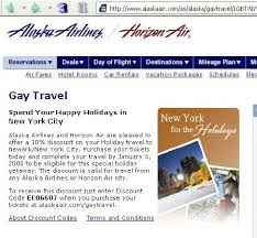 Alaska discount travel images Airline 39 discount 39 charges heterosexual customers more jpg