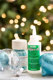 diy glitter ornaments best glue to use a pumpkin and a