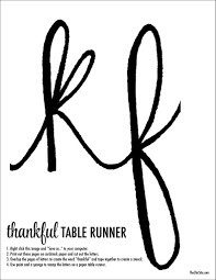 thanksgiving stencil diy thanksgiving table runner the chic site