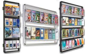 literature displays for advertising events with pocket configurations