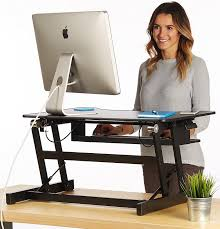 dual monitor stand up desk standing desk adjustable height desk riser sturdy 32in wide sit