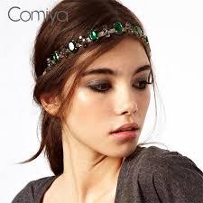 fashion brand wedding hair accessories headbands green