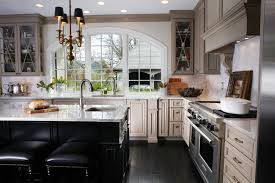 Taupe Cabinets Black Kitchen Chandelier Kitchen Traditional With Black Stools