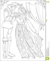 black white illustration medieval prince princess