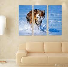 30cm 60cm animal portrait hd print modern home decor tiger oil