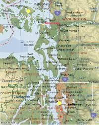 Maps Of Washington by Washington State West Coast Map Anacortes Washington U2022 Mappery
