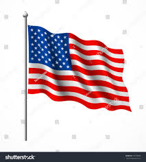 Us Flag Vector Free Download American Flag Vector Illustration Stock Vector 104758406