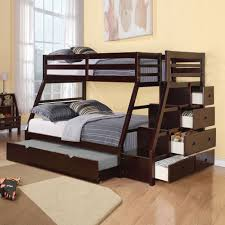 wooden bunk bed with storage for different kids room styles