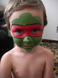 teenage mutant ninja turtle face paint this is his mean face