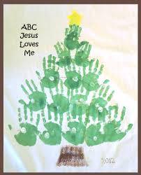 christmas handprint tree christmas lights decoration