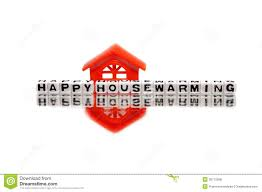 housewarming message with red home royalty free stock photos