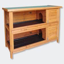 wiltec hasenstall nagerhaus kaninchenstall 2 story rabbit