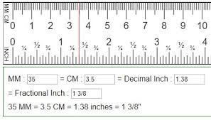 Convert mm cm to fraction or decimal inches in=mm=cm