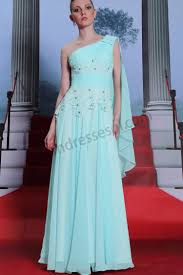 prom dresses online light blue one shoulder lace bridesmaid
